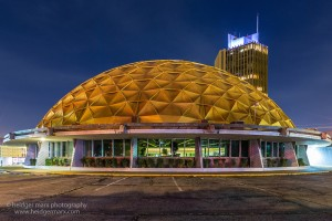 The Golden Dome in Oklahoma City at night