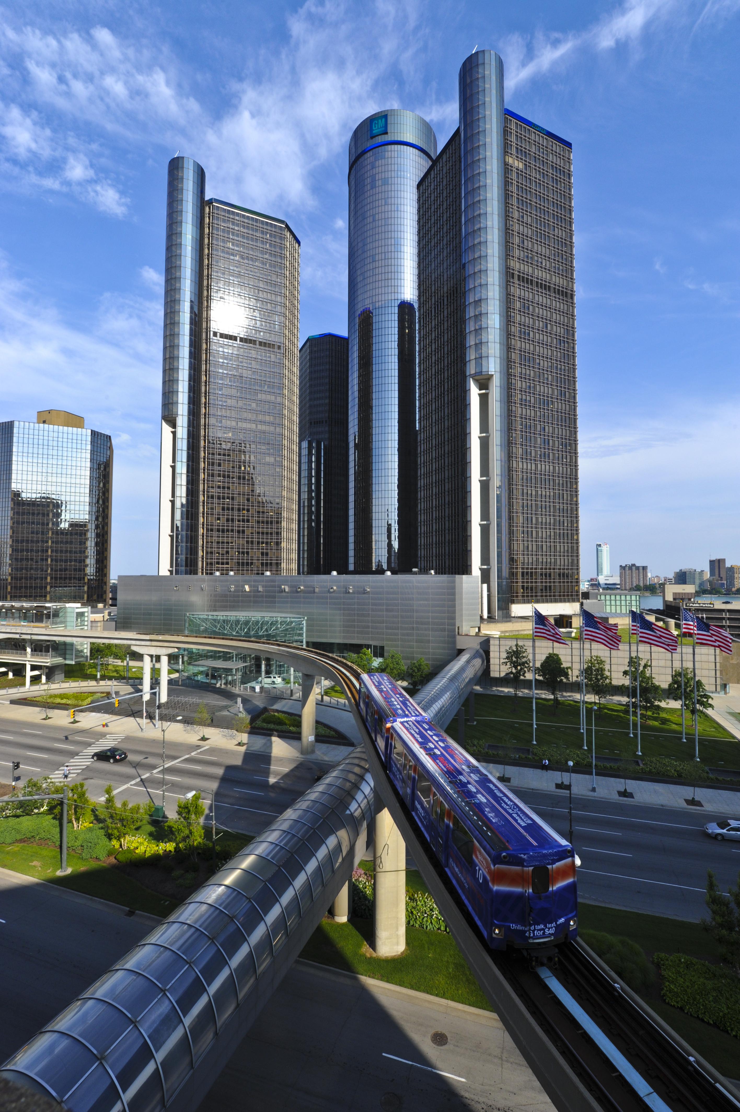 Renaissance Center Gm Tower Detroit Architecture For