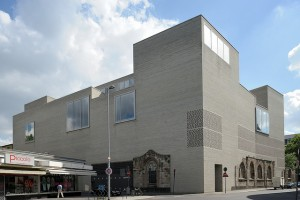 Architect: Peter Zumthor, 1997 - 2007. View from Herzogstrasse